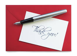 gratitude thank you note