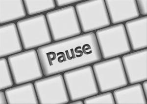 pause button covid on keyboard